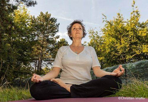 seance de yoga en plein air